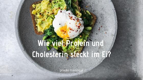 Wie viel Protein und Cholesterin steckt im Ei
